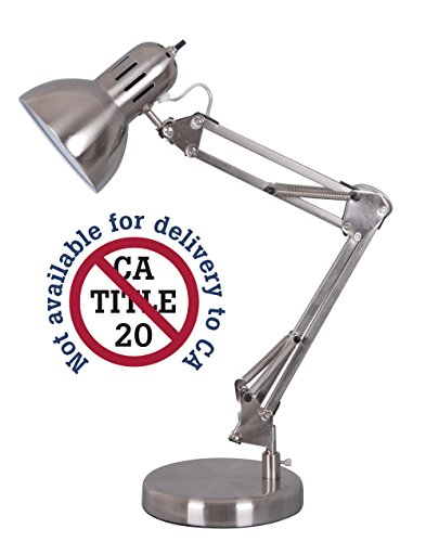 Alvin FD206ST Architect Desk Lamp , Satin Steel (Contemporary Pewter Table Lamp)
