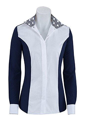 RJ Classics Ladies Prestige Show Shirt (Linden/Navy Swirls, L)