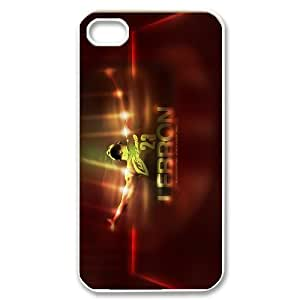 Unique Phone Case Pattern 12Hard Plastic Cover NBA Cleveland Cavaliers LeBron James - For Iphone 4 4S case cover