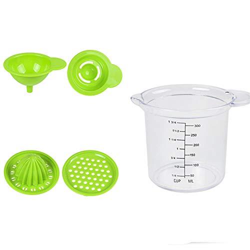 Citrus Juicer Hand Press,Baby Food Grinder Hand Operated Orange Lemon Juicer Manual Function 4 In 1 1 Oz Squeeze Bottle Lemon