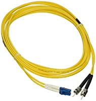 eDragon ED88246 Fiber Optic Cable, LC/ST, Singlemode, Duplex, 9/125, 4m, 2 Pack