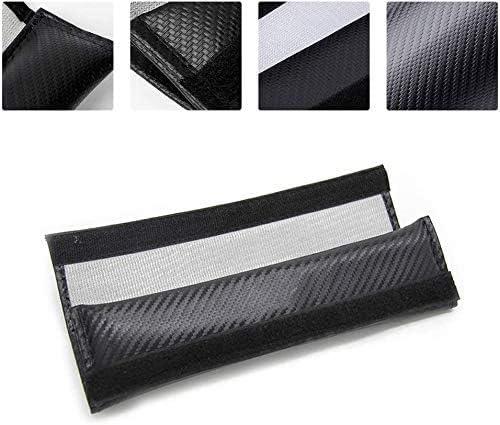 KUN 2Pack Car Seat Belt Pads Cover Belts Covers Padding Carbon Fiber Leather Belt Shoulder Sleeve Fit for Cadillac Escalade ATS CTS EXT SRX XTS XLR