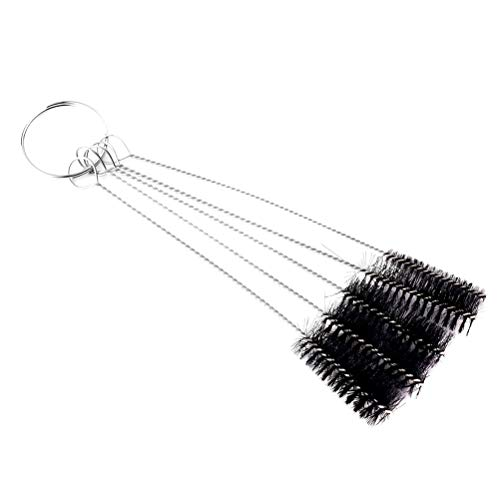 Healifty 5PCS Tattoo Machine Tube Grip Tip Cleaning Brushes Tattoo Needle Mouth Cleaner Kit Tattoo Accessory