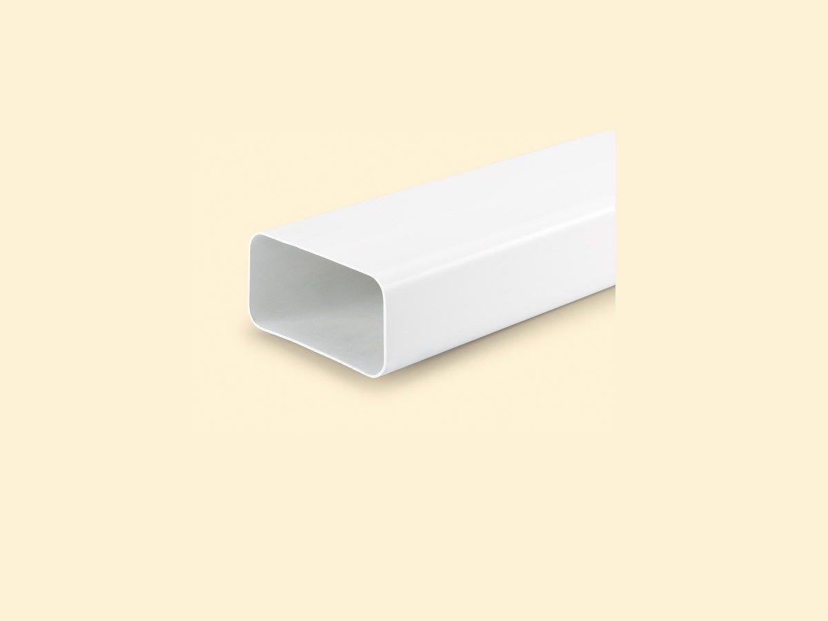 NABER MF-VRM 1000 System Flachkanalrohr Länge 1m Weiß 125er Flachkanal 403.3.004