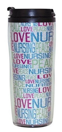 Scrub Stuff Peace Love Travel Mug