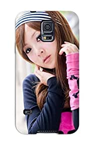 Faddish Phone Cute Asian Girl Case For Galaxy S5 / Perfect Case Cover