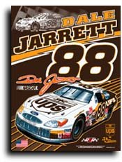 "Dale Jarrett - 27"" x 37"" NASCAR Banner"