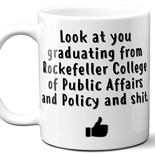 Rockefeller College of Public Affairs and Policy College Grad Gift Mug For Student. 11 ounces.