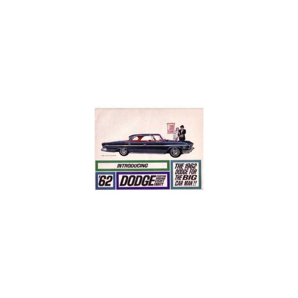 1962 Dodge Custom 88 Sales Brochure Literature Book Advertisement Options Specs