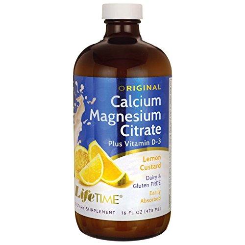 Lifetime Liquid Calcium Magnesium Citrate (LifeTime Cal Mag Citrate, Lemon Custard, 16 Ounce)