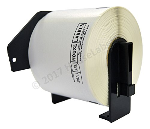 - Ships Fast 5 Rolls; 300 Labels per Roll of HouseLabels Compatible with Brother DK-1202-R Removable Shipping Labels with ONE Reusable Cartridge (2-3/7