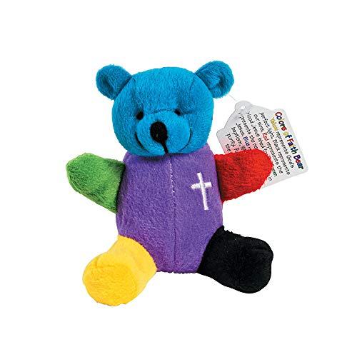 (Fun Express - Rainbow Faith Plush Bears - Toys - Plush - Stuffed Bears - 12 Pieces)