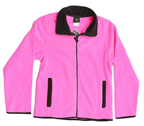 (Just Love 98503-FUC-10/12 Solid Polar Fleece Girls Jacket)