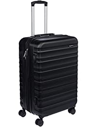 "AmazonBasics Hardside Luggage Spinner, 24"", Black"