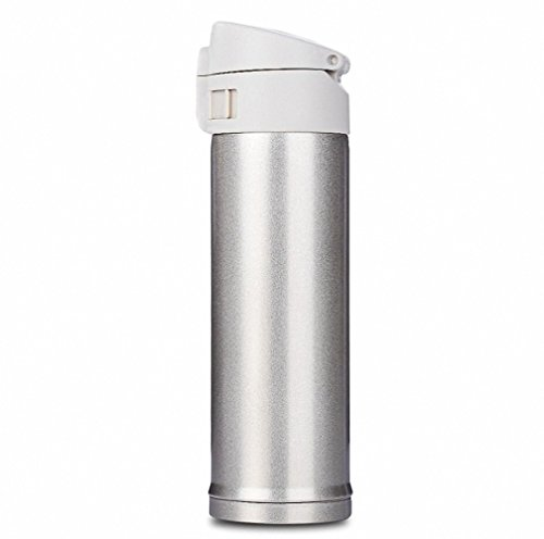 Price comparison product image Vacuum Flasks Thermoses 420ml Stainless Steel Insulated Thermos Cup Coffee Mug Travel Drink Bottle keep liquids hot or cold Gold