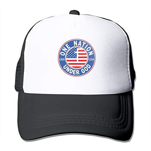 Unisex America One Nation Under God Trucker Cap Suitable for Indoor or Outdoor Activities Black