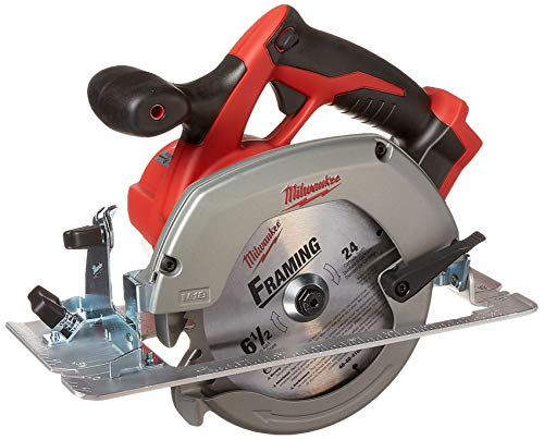 MILWAUKEE'S M18 2630-20 18 Volt Lithium Ion 6-1/2″ 3,500 RPM Cordless Circular Saw w/ Magnesium Guards and Included 24-Tooth Carbide Wood Cutting Blade(Bare Tool)