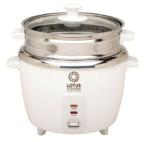 Lotus Foods Gourmet Stainless Steel Rice Cooker and Steamer