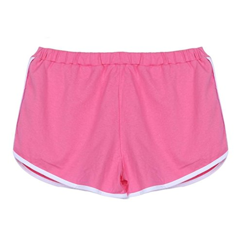 (DaySeventh New Summer Pants Women Sports Shorts Gym Workout Yoga Short (L, Pink) )