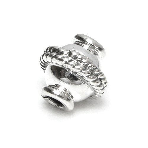 (2 pcs Bali .925 Sterling Silver Saucer Bead Spacer 8mm / Findings / Antique)
