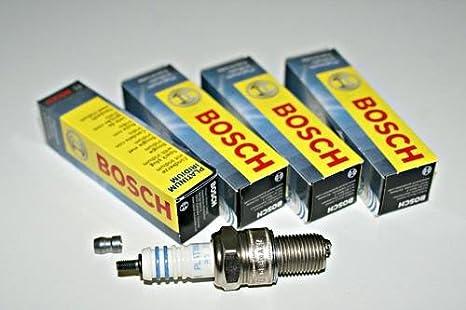 Bosch Platinum Iridium Spark Plug Set 4 pcs 0241247500 OEM: Amazon.es: Coche y moto