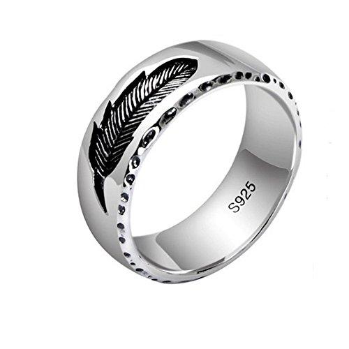 efe26faddc0a Outlet Jade Angel - Anillo de plata de ley 925 para hombre y mujer ...