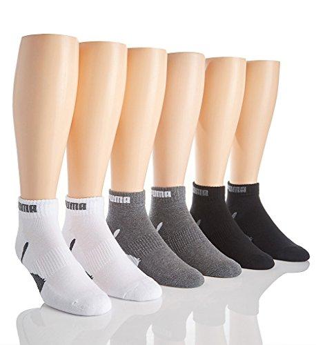 Puma 6 Pack 1/2 Terry Low Cut Socks