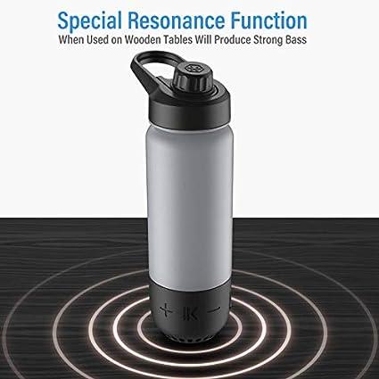 2-in-1 Water Bottle+Bluetooth Speaker,Bottle Materials MADE IN Speaker,360° Gift