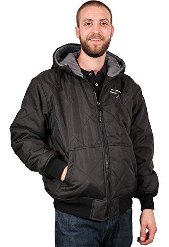 Freeze Defense Men's Quilted Spring, Fall, Winter Jacket Coat (Large, Black) ()