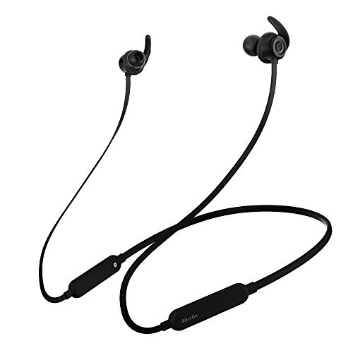 Headphones,AlierGo SoundOn Neckband Wireless Headphones, Wireless Light weight Headset, IPX5 Water Resistant Sport Earbuds Earphones with CVC6.0 Noise Cancelling aptX Stereo and Built-in Mic