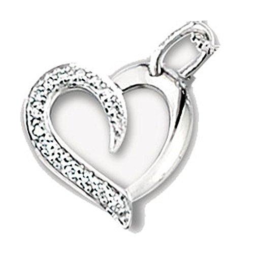 SF Bijoux - Pendentif or gris 750/1000e et diamant (0,10 carat)