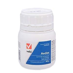 Vebi Aedex Insetticida Larvicida Antizanzare- Barattolo 50 Compresse - 100g 1 spesavip