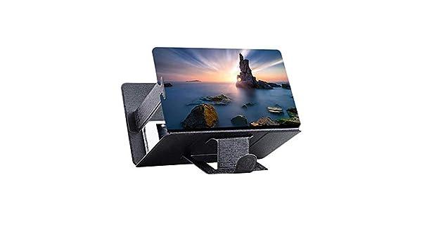 ZAZCB Universal, teléfono móvil, Pantalla 3D, Amplificador de Video HD, Soporte de Soporte para teléfono Lupa, Soporte para teléfono, práctico, proyector para el hogar, Negro: Amazon.es: Electrónica