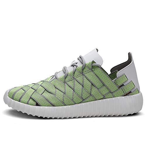 5 Couple Chaussures La Sport Décontractées Antidérapantes Pour À Femmes D'extérieur De D'été Hommes 40 Respirantes Chaussures Main Tissées a4arR5q