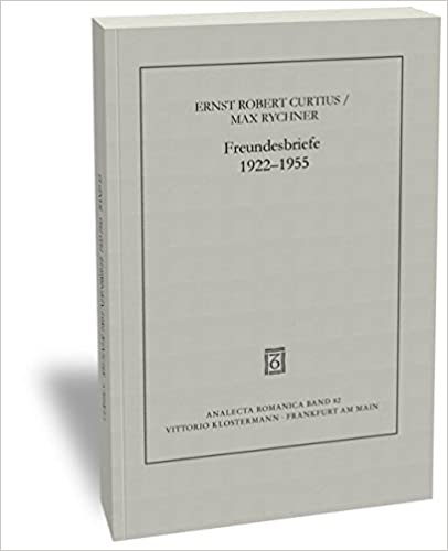 Book Freundesbriefe 1922-1955 (Analecta Romanica) (German Edition)
