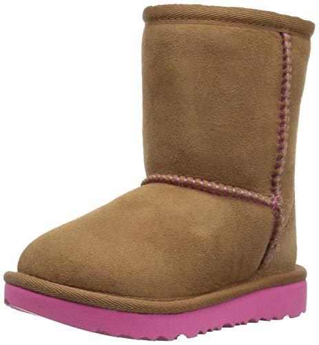 UGG Kids K Classic II Boot, Chestnut/Pink Azalea, 6 M US Big Kid