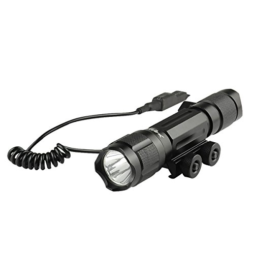 "Tactical Remote Pressure Switch (X-BALOG Q90 Tactical Hunting Flashlight 900 lumens XM-L2 T6 Torch Light with Remote Pressure Switch,0.9""-1.3""Rail Gun Mount,1x18650 Rechargeable Battery,Battery Charger)"