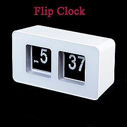 New Retro Desk Table Auto Flip Clock Page Turning Desktop Clocks Classic Stylish Modern Despertador Digital