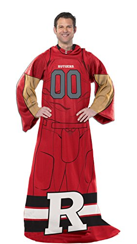 Officially Licensed NCAA Rutgers Scarlet Knights Full Body Player Adult Comfy Throw Blanket, 48
