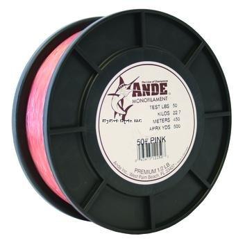 Ande Premium Monofilament - 1/2 lb. Spool - 50lb. Test - Pink