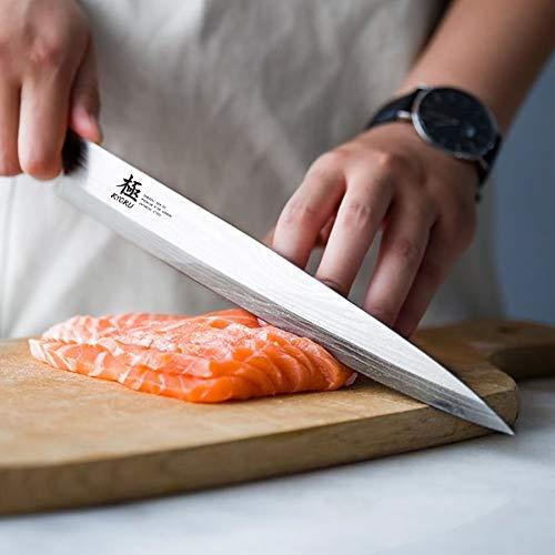 KYOKU Samurai Series - 10.5'' Yanagiba Knife Japanese Sushi Sashimi Knives - Superior Japanese Steel - Wenge Wood Handle - with Sheath & Case by KYOKU (Image #1)
