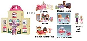 Loving Family Twin Time Grand Dollhouse Superset!