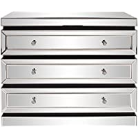 Howard Elliott 99064 3-Tier Mirrored Dresser with Drawers