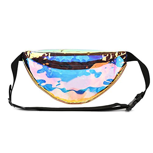 Bags Fanny Sports Purse Women PVC Everpert Clear Waist Hologram Packs Shoulder 6EwP5q