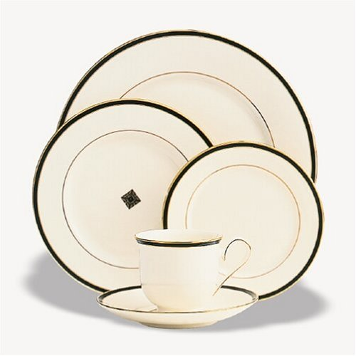 Lenox Urban Lights 5-Piece Gold-Banded Dinnerware Place Setting, Service for 1