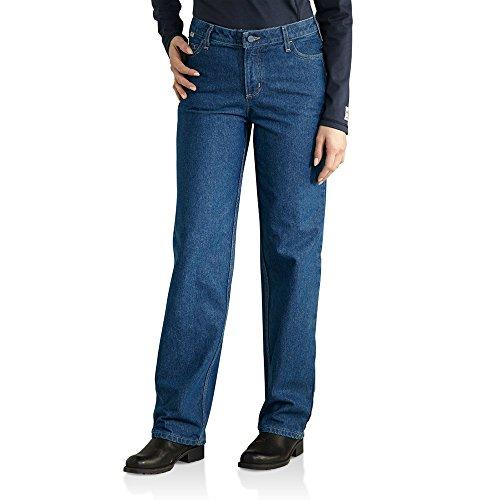 Carhartt Soft Jacket (Carhartt Women's Flame Resistant Utility Denim Jean, 2x28)