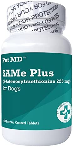 Pet MD Same Plus S-Adenosyl for Dogs Hepatic Liver Supplement and Cognitive Support