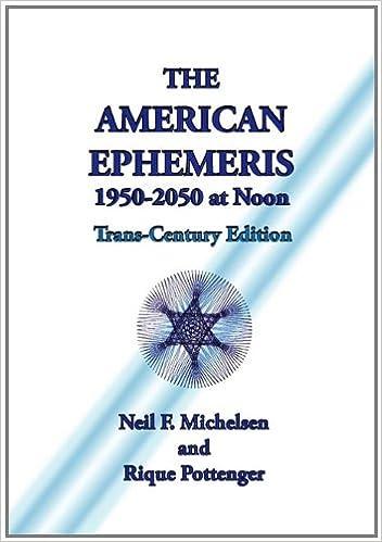 The American Ephemeris 1950-2050 at Noon: Neil F  Michelsen, Rique