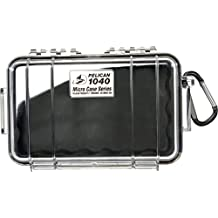Waterproof Case | Pelican 1040 Micro Case - for iPhone, cell phone, GoPro, camera, and more (Black/Clear)