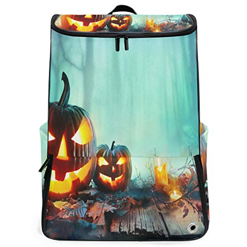 Ladninag Laptop Backpack Halloween in North County San Diego School Backpack for Men Big Hiking Bookbag